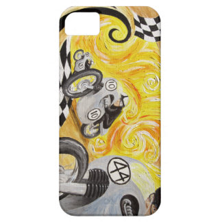 Cafe Racer - Painting of Vintage Motorcycle Racing iPhone 5 Covers