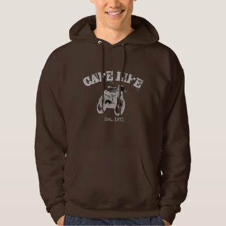 "Cafe Racer Vintage Motorcycle ""cafe life"" hoodie"