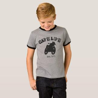 Cafe Racer Vintage Motorcycle Ringer shirt, kids T-Shirt