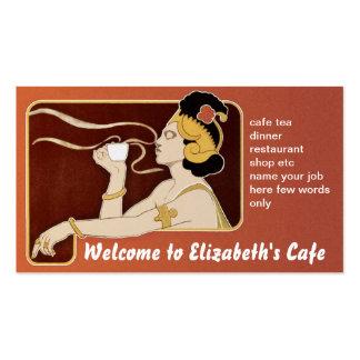 cafe restaurant tea coffee business card
