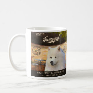 Cafe Samoyed Basic White Mug