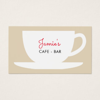 Cafe shop coffee company business card template