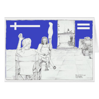 Cafe Society, Daily life, chatting in the square. Card
