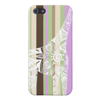 Cafe Striped Giraffe iPhone Case Case For The iPhone 5