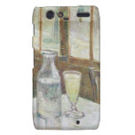 Café table with absinth droid RAZR cover