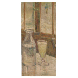 Cafe Table with Absinthe by Vincent Van Gogh Wood USB 2.0 Flash Drive