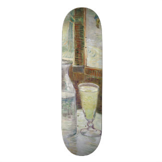 Cafe Table with Absinthe by Vincent Van Gogh Skateboard