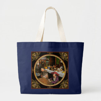 Cafe - Temptations 1915 Large Tote Bag