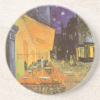 Cafe Terrace at Night by Vincent van Gogh Beverage Coasters