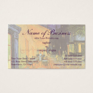 Cafe Terrace at Night by Vincent van Gogh Business Card
