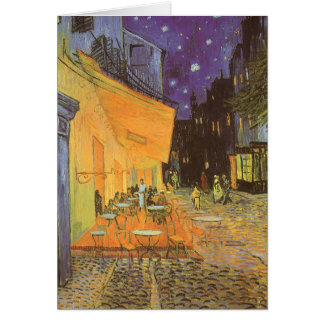 Cafe Terrace at Night by Vincent van Gogh Greeting Card
