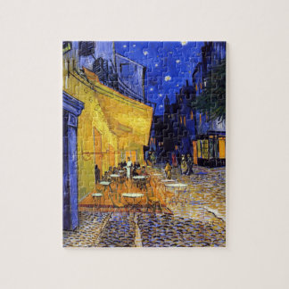 Cafe Terrace at Night by Vincent van Gogh Jigsaw Puzzle
