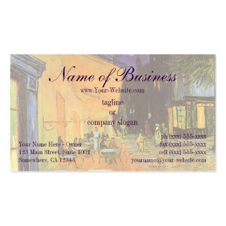 Cafe Terrace at Night by Vincent van Gogh Pack Of Standard Business Cards