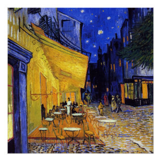 Cafe Terrace at Night by Vincent van Gogh Posters