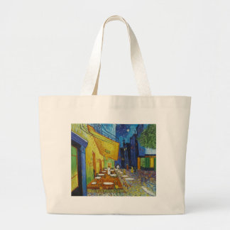 Cafe Terrace At Night by Vincent Van Gogh Tote Bags