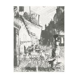 Café Terrace at Night Canvas Print