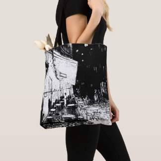 Cafe Terrace at Night Tote Bag