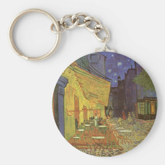 Cafe' Terrace At Night Van Gogh coffeehouse Gifts Key Ring