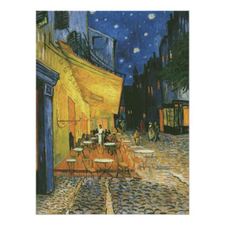 Cafe Terrace by van Gogh Post-Impressionist Poster