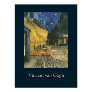Cafe Terrace by van Gogh Poster Print