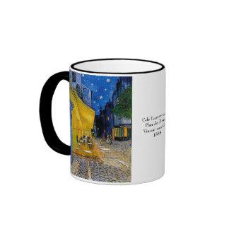 Cafe Terrace by Vincent van Gogh Ringer Mug