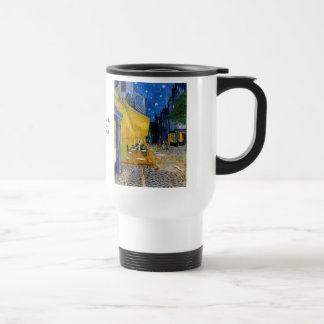 Cafe Terrace by Vincent van Gogh Stainless Steel Travel Mug