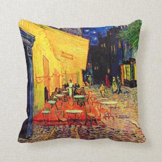 Cafe Terrace (F467) Van Gogh Fine Art Throw Cushion