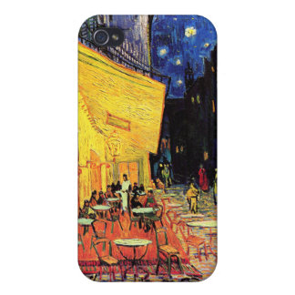 Café Terrace on the Place du Forum Arles at Night iPhone 4 Covers