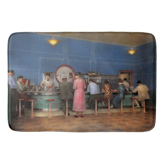 Cafe - The half way point 1938 Bath Mat