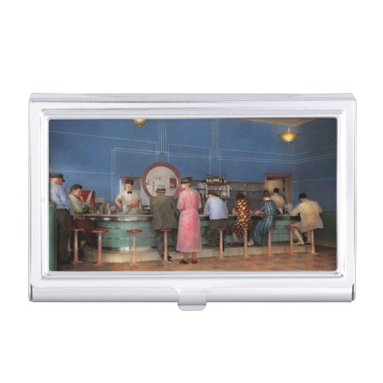 Cafe - The half way point 1938 Business Card Holder