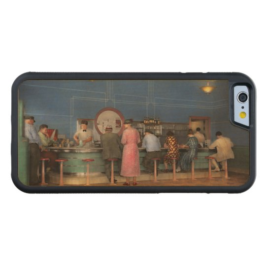 Cafe - The half way point 1938 Carved Maple iPhone 6 Bumper Case