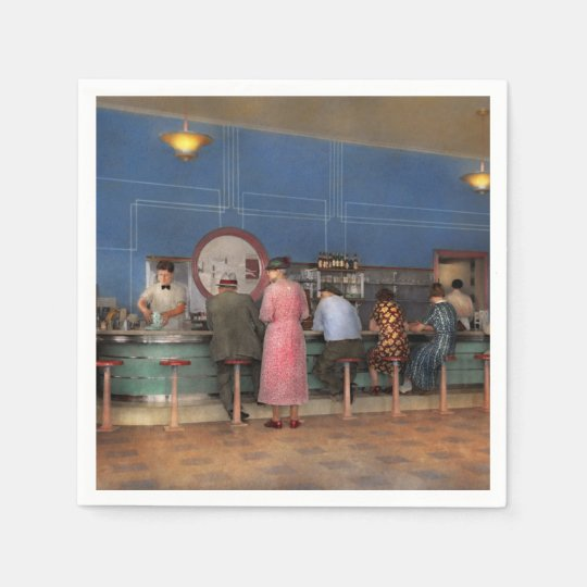 Cafe - The half way point 1938 Disposable Napkin