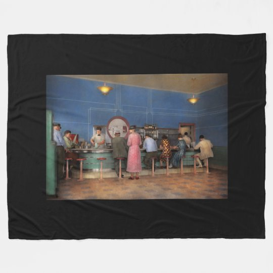 Cafe - The half way point 1938 Fleece Blanket