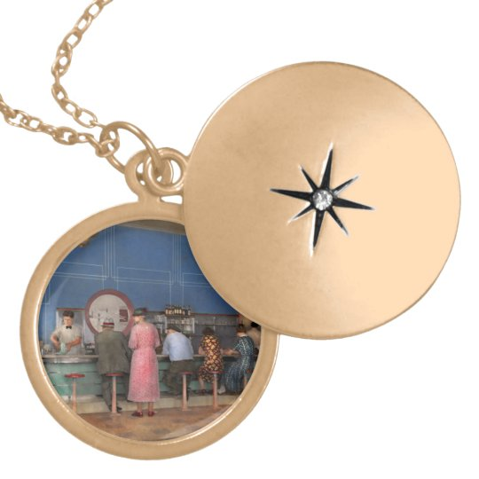 Cafe - The half way point 1938 Locket Necklace
