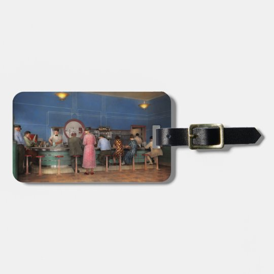 Cafe - The half way point 1938 Luggage Tag