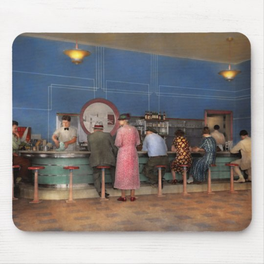 Cafe - The half way point 1938 Mouse Pad