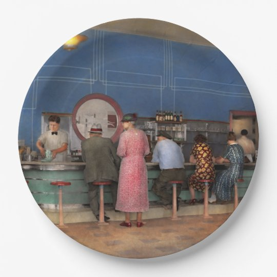 Cafe - The half way point 1938 Paper Plate