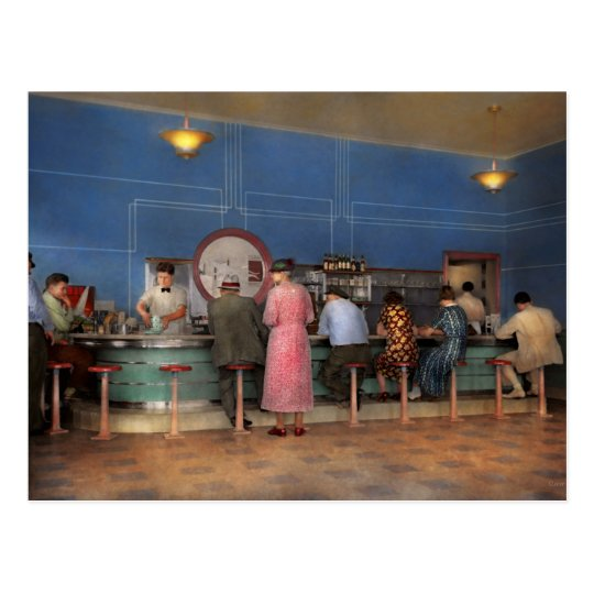 Cafe - The half way point 1938 Postcard