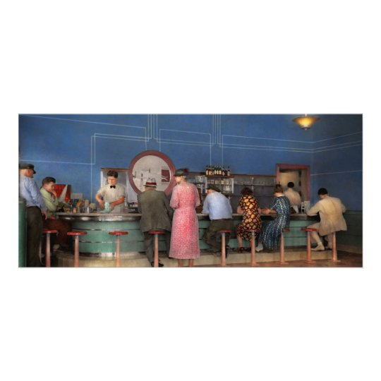 Cafe - The half way point 1938 Rack Card