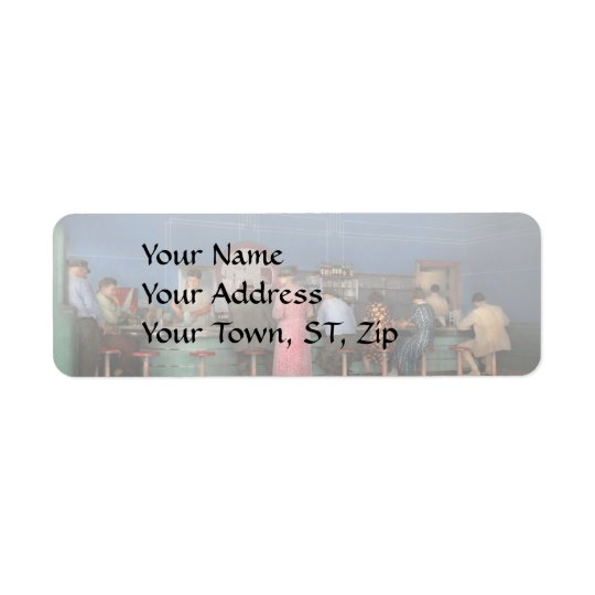 Cafe - The half way point 1938 Return Address Label