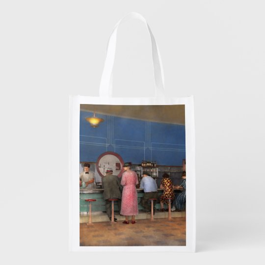 Cafe - The half way point 1938 Reusable Grocery Bag