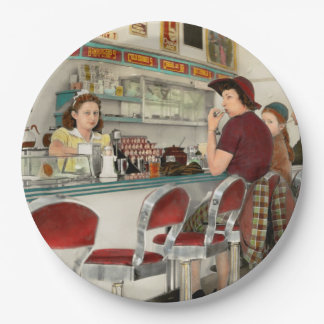 Cafe - The local hangout 1941 9 Inch Paper Plate
