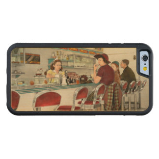 Cafe - The local hangout 1941 Carved Maple iPhone 6 Bumper Case