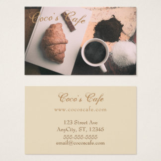 """Cafe"" Themed Business Card"