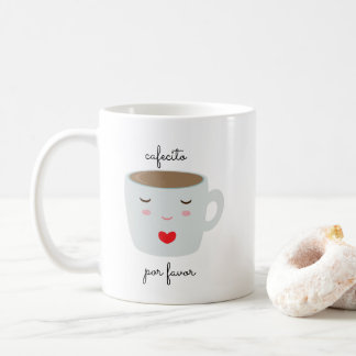 """Cafecito"" Spanish Language Mug with Coffee Cup"