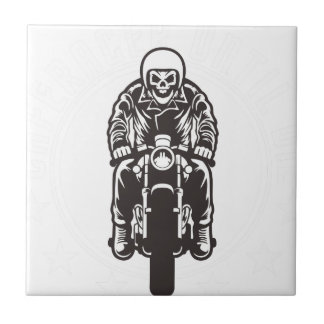 Caferacer Until Die Ceramic Tile