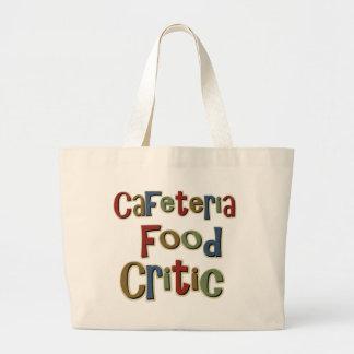 Cafeteria Food Critic Jumbo Tote Bag