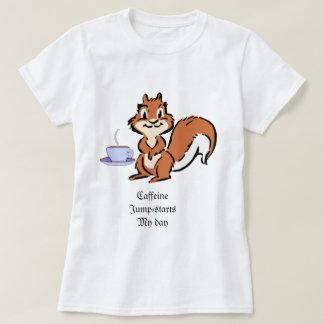 Caff-seine Squirrel Tshirt