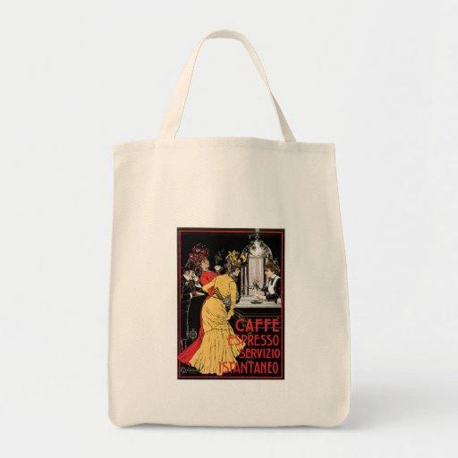 Caffe Espresso Vintage Coffee Drink Ad Art Canvas Bags