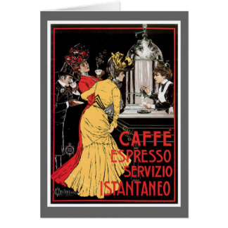 Caffe Espresso Vintage Coffee Drink Ad Art Greeting Card